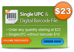 Single UPC  & Digital Barcode File - Order now
